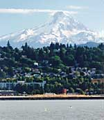 Hood River with Mount Hood in the background