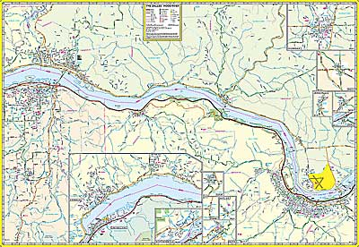 Columbia River Gorge Detailed Map Of Oregon And Washington - Map of oregon and washington